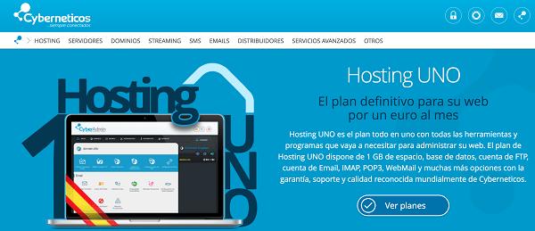Hosting web barato cyberneticos