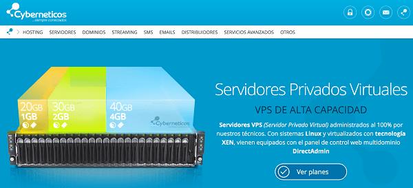 Servidores vps cyberneticos hosting