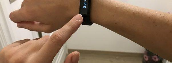 Reloj hora smartband pulsera inteligente